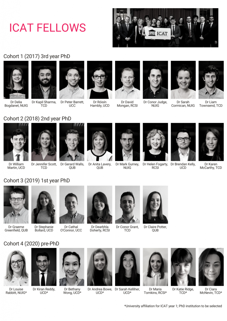 Individual images of the 4 cohorts of ICAT Fellows