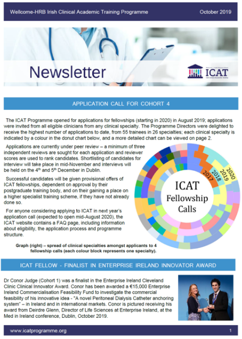 Oct 2019 Newsletter front page