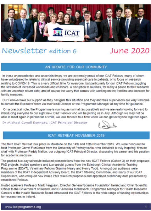 Newsletter front page edited
